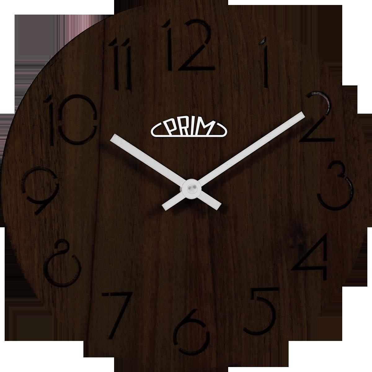 MPM Dřevěné kulaté nástěnné hodiny MPM E01P.3942.52