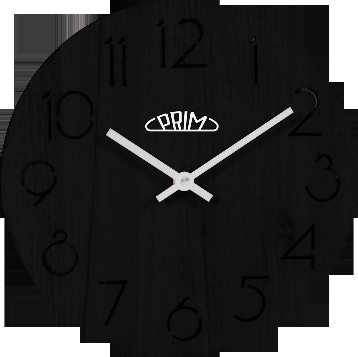 MPM Dřevěné kulaté nástěnné hodiny MPM E01P.3942.90
