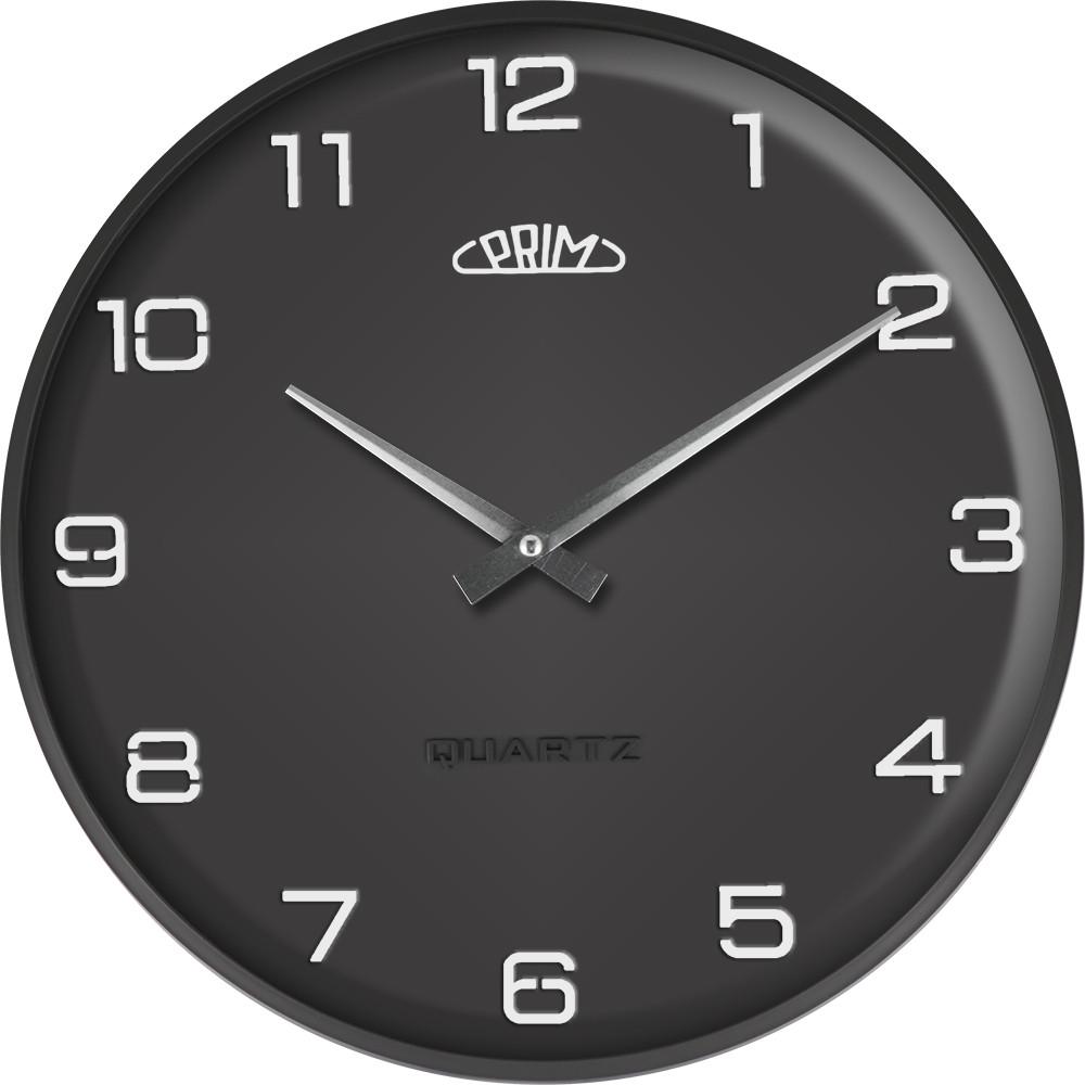 PRIM Černé nástěnné nástěnné hodiny PRIM Bloom B