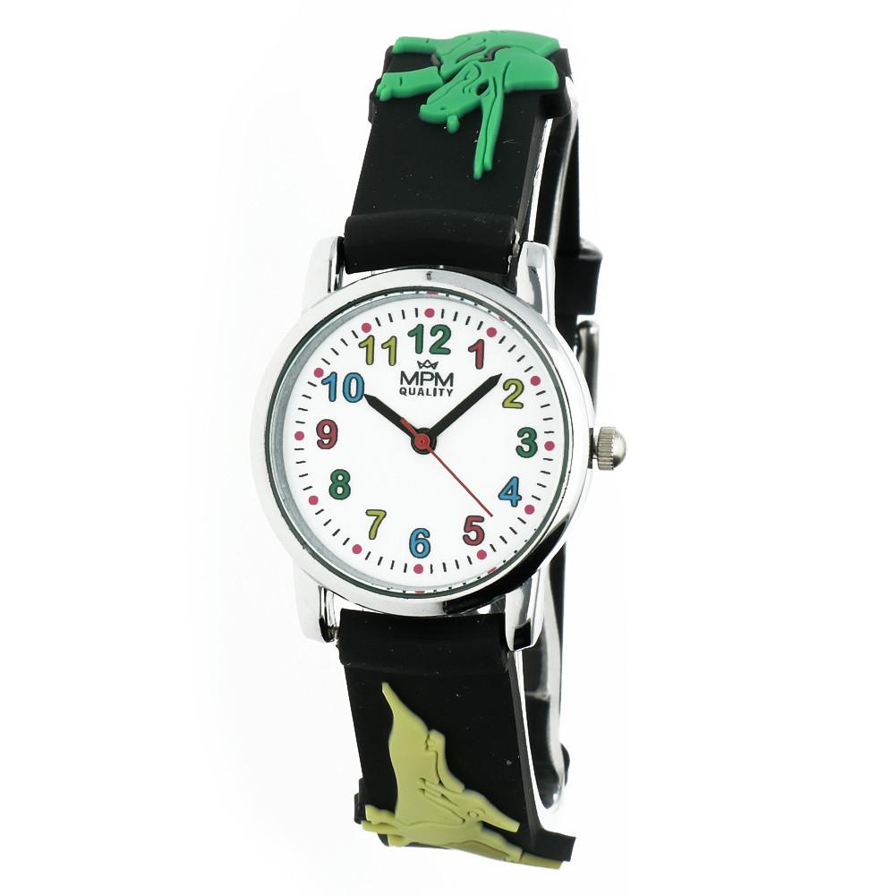 MPM Dětské náramkové hodinky MPM Kids Dinosaurus 11289.B