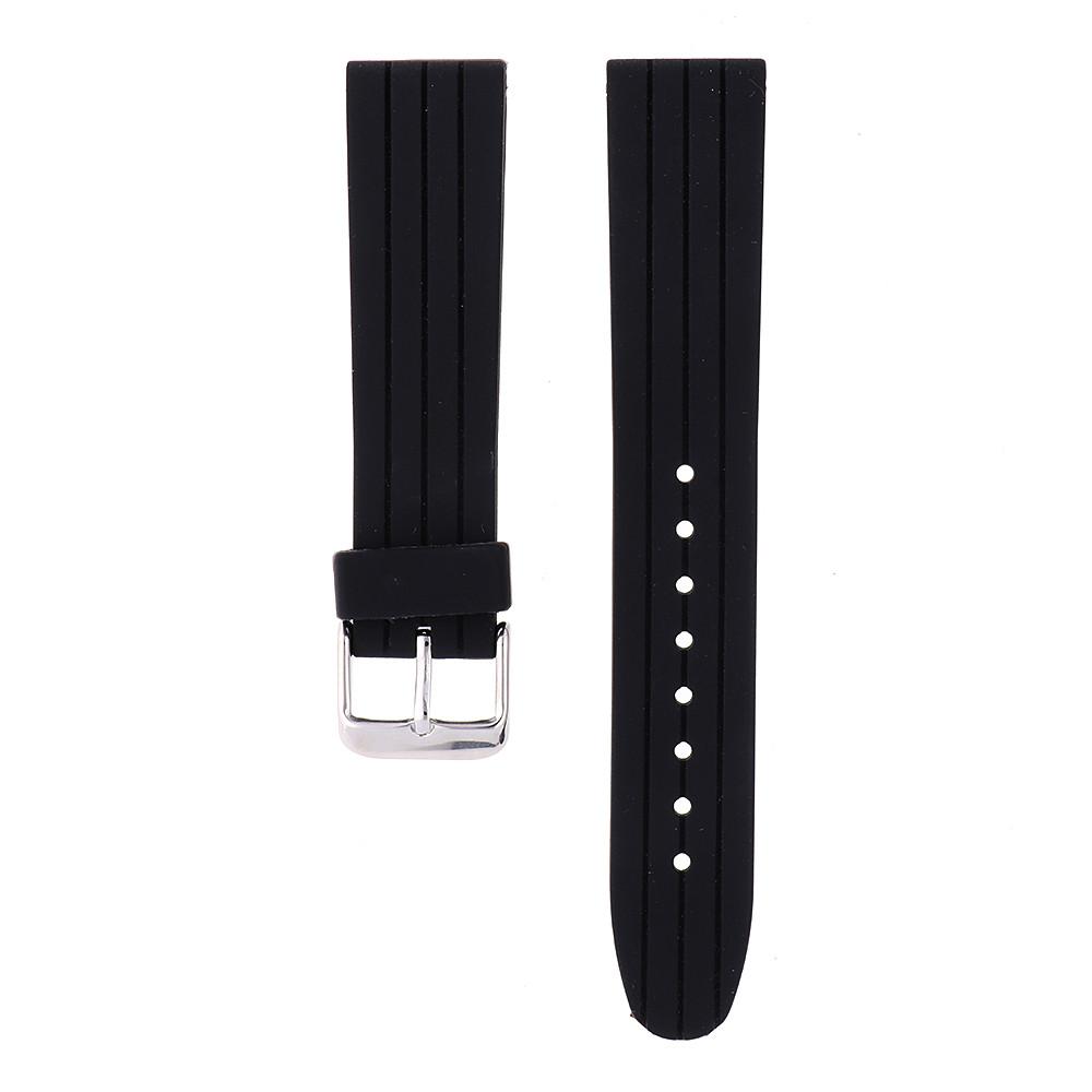 MPM Gumový černý řemínek na hodinky MPM RJ.15861.20 (20mm)