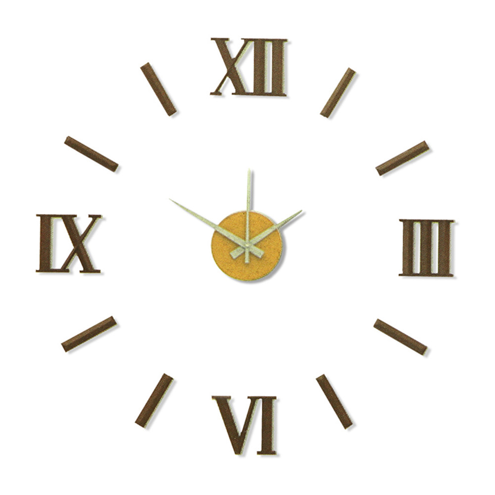 MPM Nalepovací hnědé nástěnné hodiny MPM E01.3772.50
