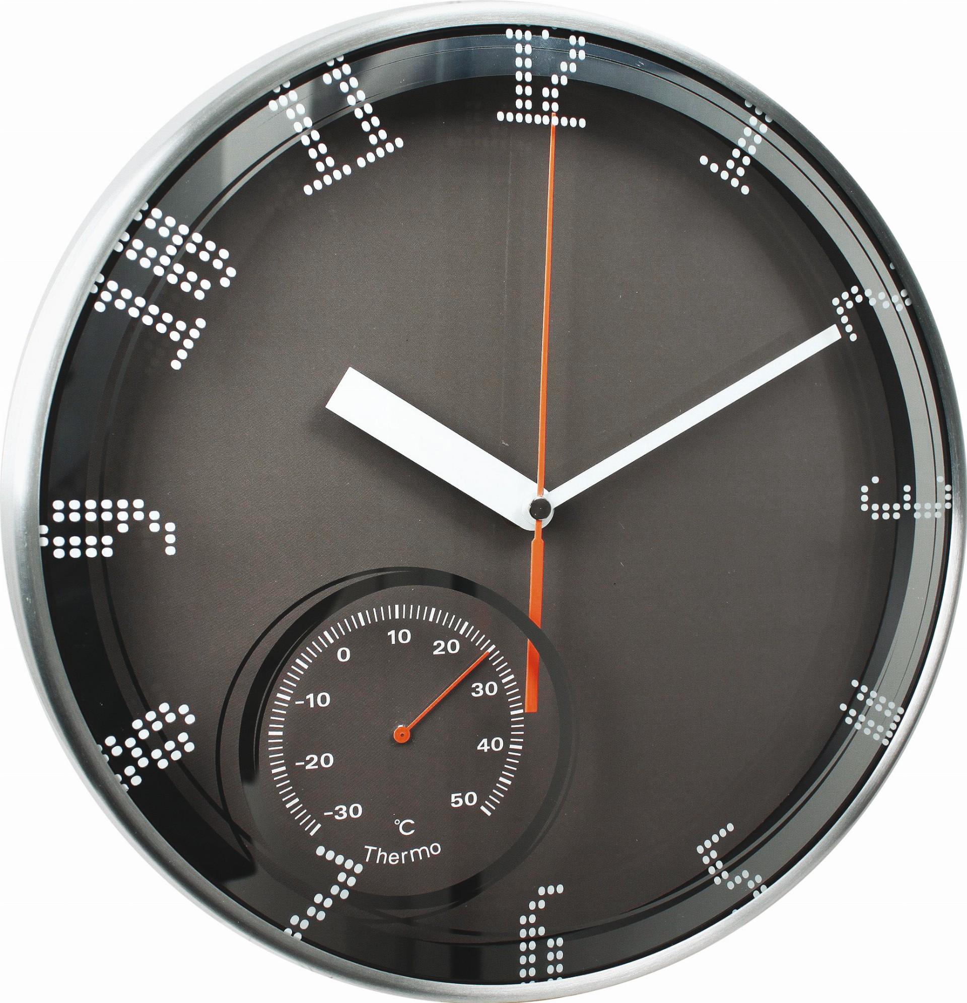 MPM Kovové kulaté nástěnné hodiny MPM E04.3083
