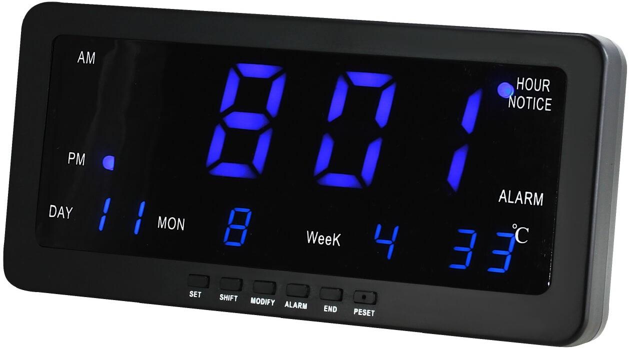 MPM Digitální budík s modrými LED diodami C02.3568