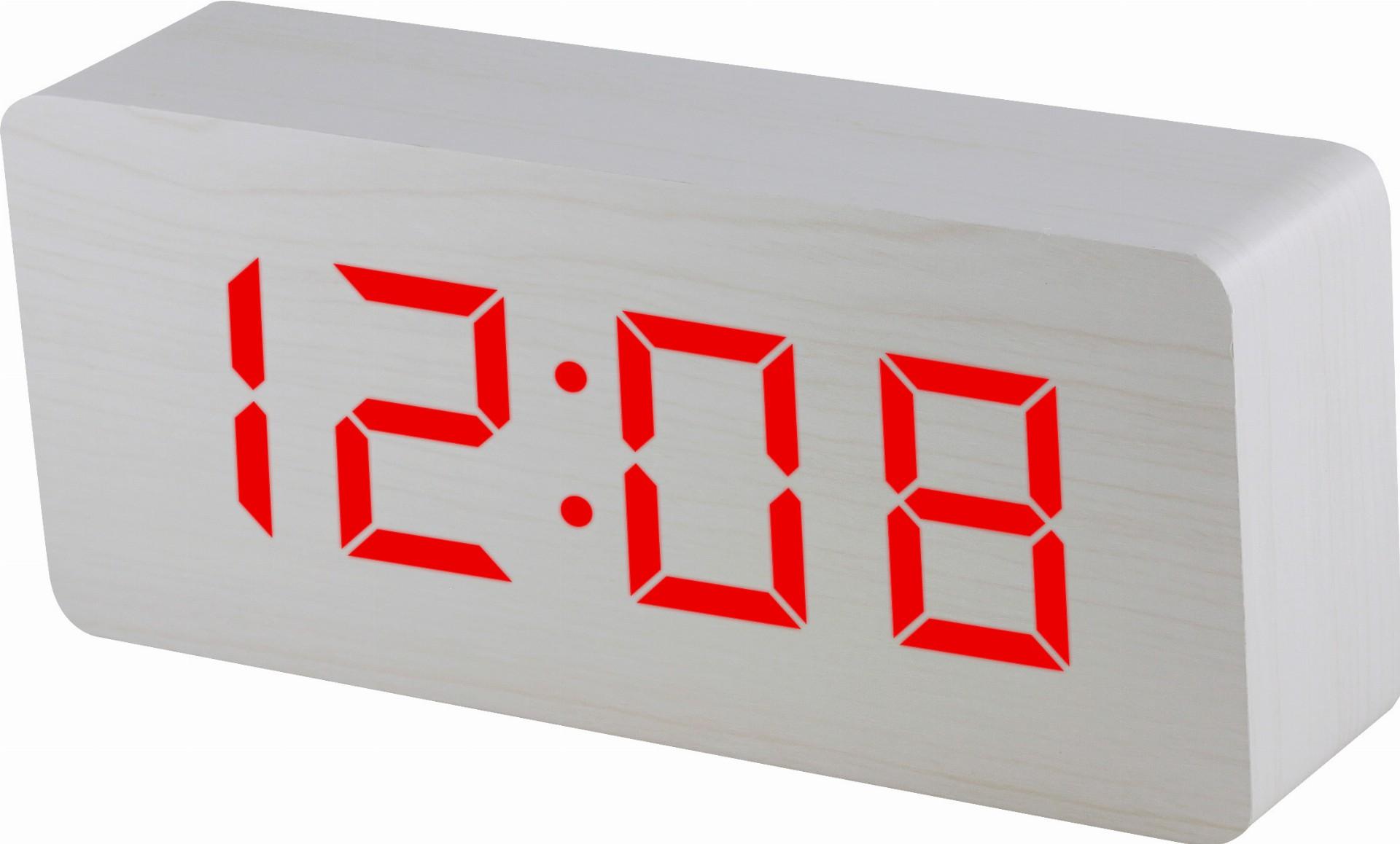 MPM Digitální budík MPM s červenými číslicemi C02.3565 RED LED