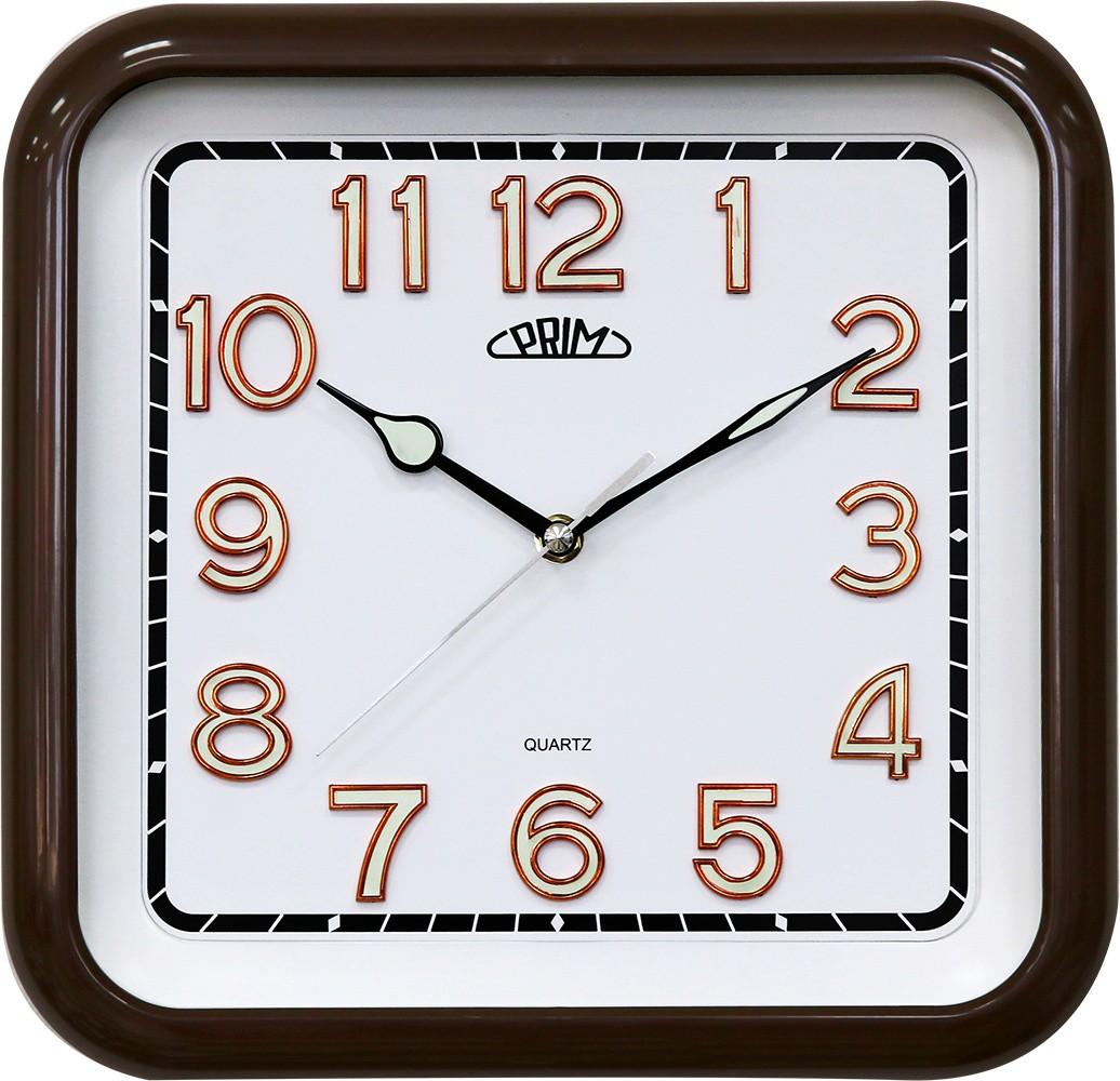 PRIM Hranaté nástěnné hodiny PRIM Square I