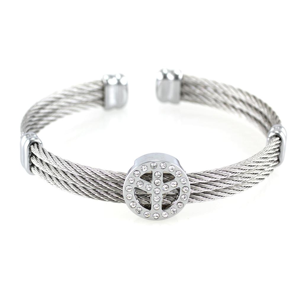 MPM Ocelový náramek z chirurgické oceli Bracelet 7354 - Silver