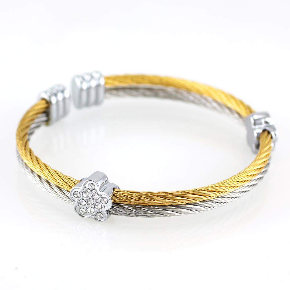 MPM Ocelový náramek z chirurgické oceli Bracelet 7362 - Bicolor (Gold + Silver)