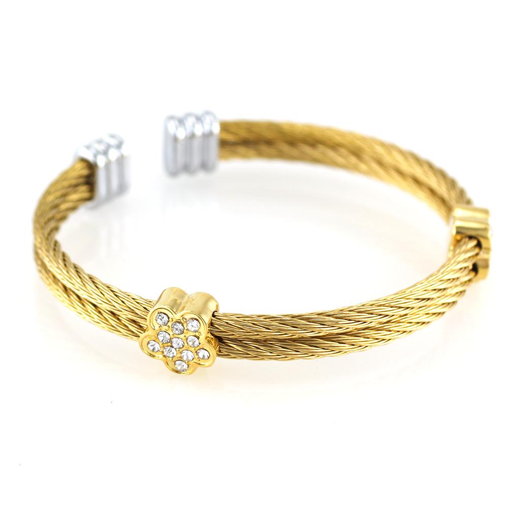 MPM Ocelový náramek z chirurgické oceli Bracelet 7364 - Gold