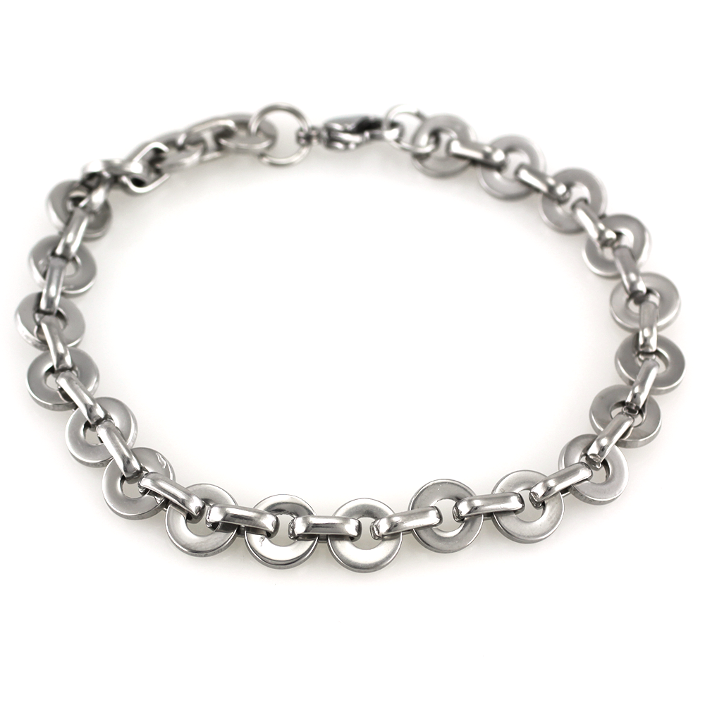 MPM Ocelový náramek z chirurgické oceli Bracelet 7369 - Silver (21cm)