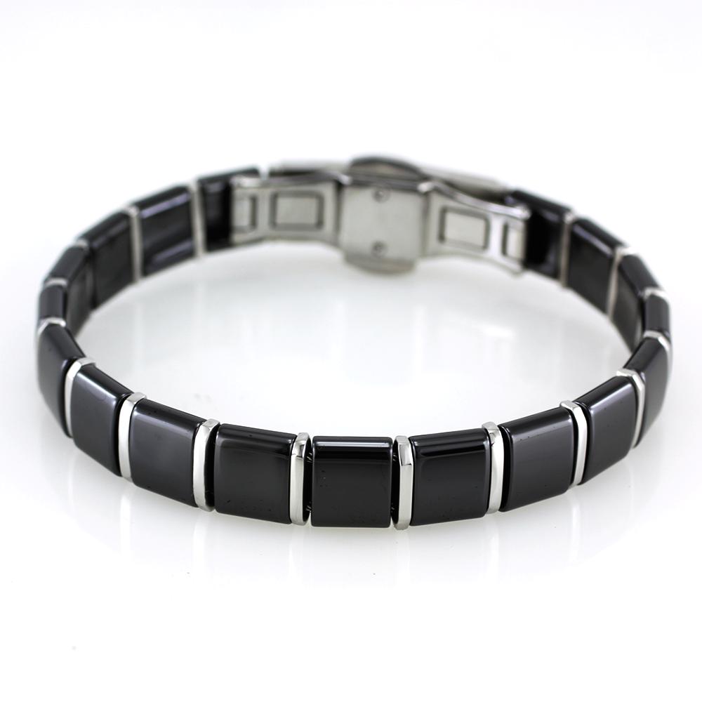 MPM Ocelový náramek z chirurgické oceli Bracelet 7383 - Ceramic Black