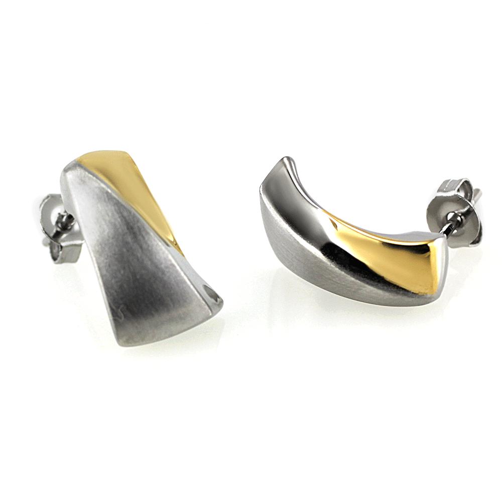 MPM Ocelové náušnice z chirurgické oceli Earrings 7496 - Bicolor