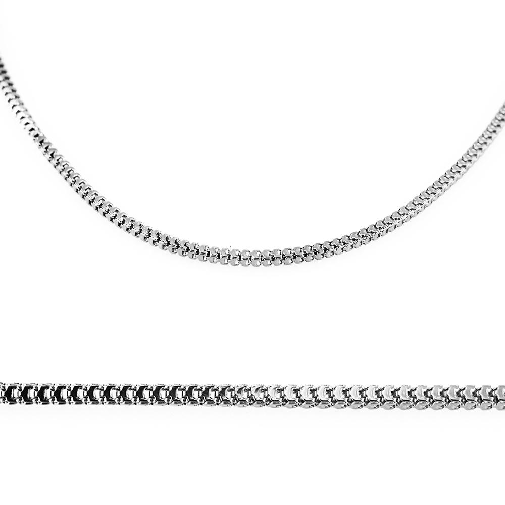 MPM Ocelový řetízek z chirurgické oceli Chain 7311 - SS Silver (50cm)