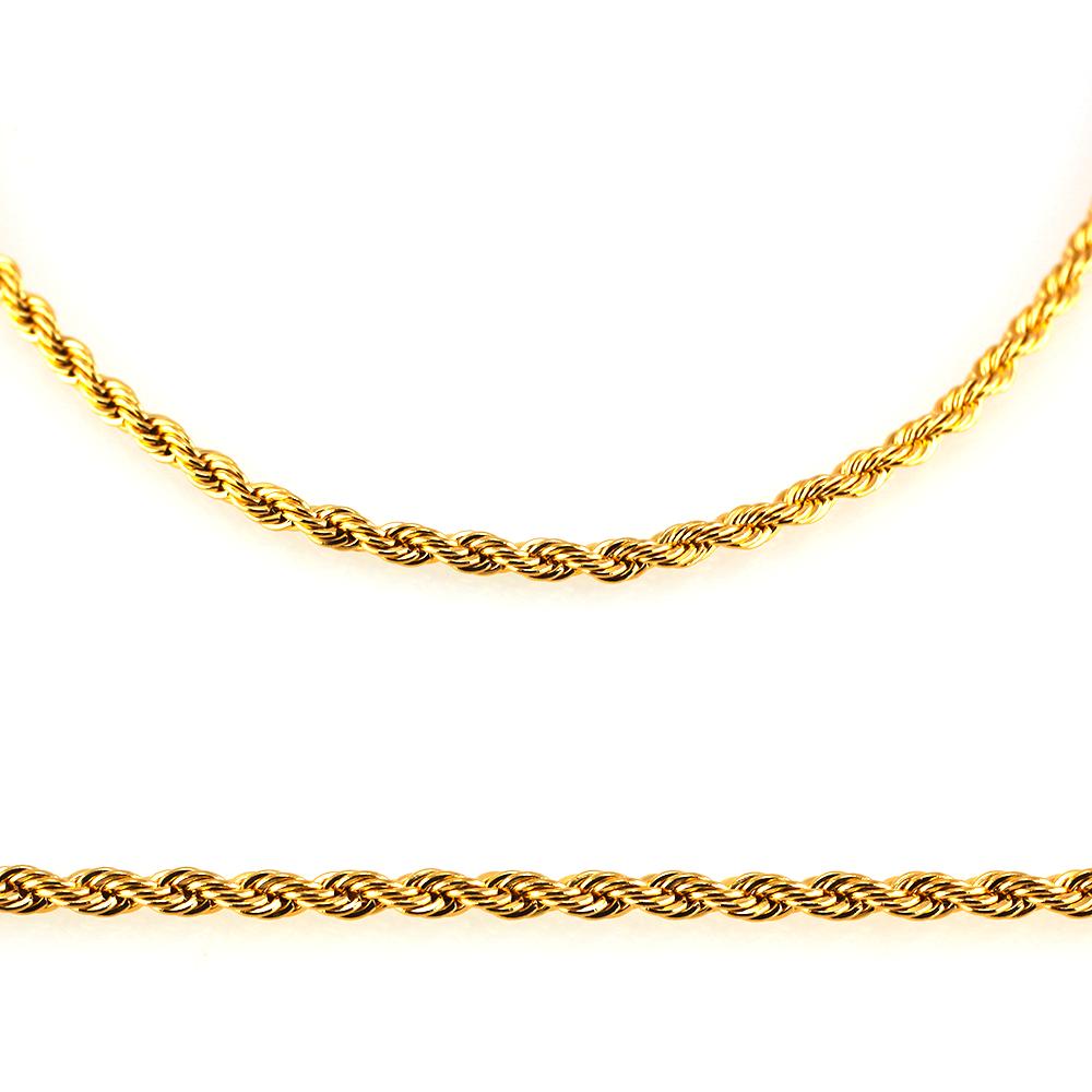 MPM Ocelový řetízek z chirurgické oceli Chain 7322 - Gold (55cm)