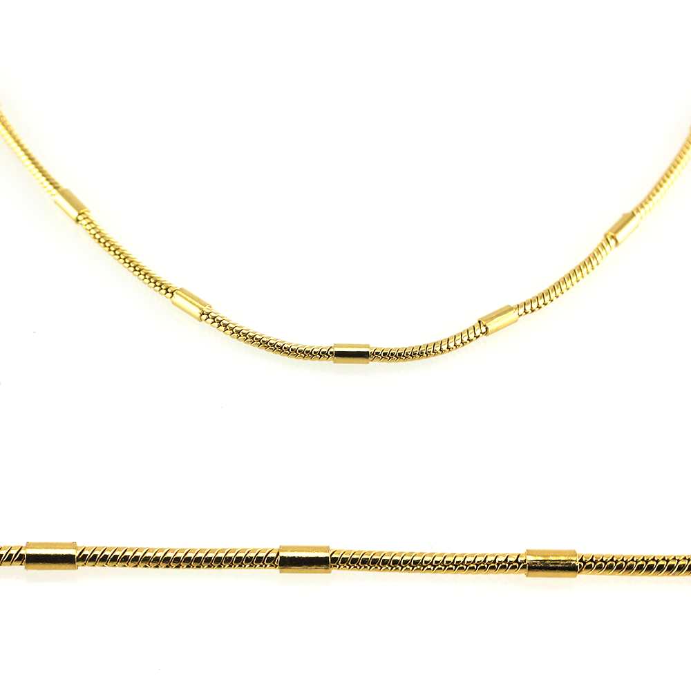 MPM Ocelový řetízek z chirurgické oceli Chain 7328 - Gold (50cm)