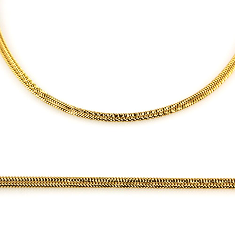 MPM Ocelový řetízek z chirurgické oceli Chain 7332 - SS Gold (50cm)