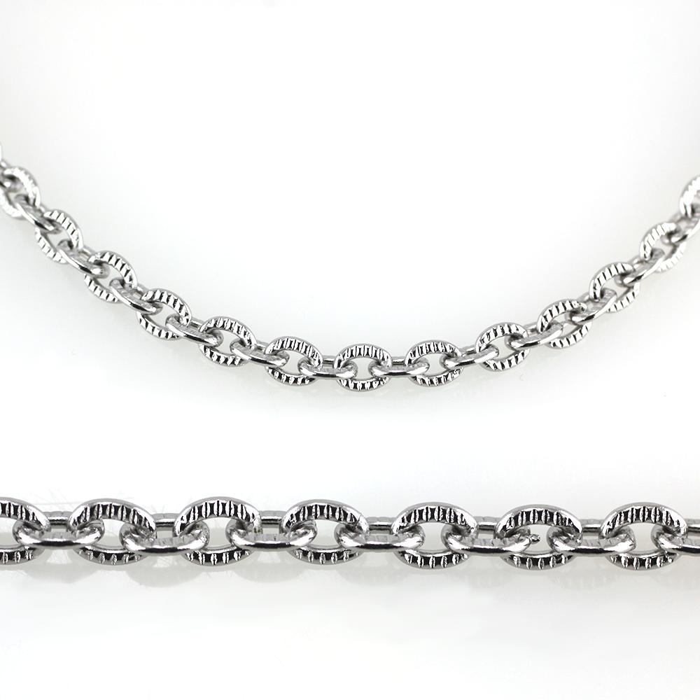 MPM Ocelový řetízek z chirurgické oceli Chain 7335 - SS Silver (50cm)