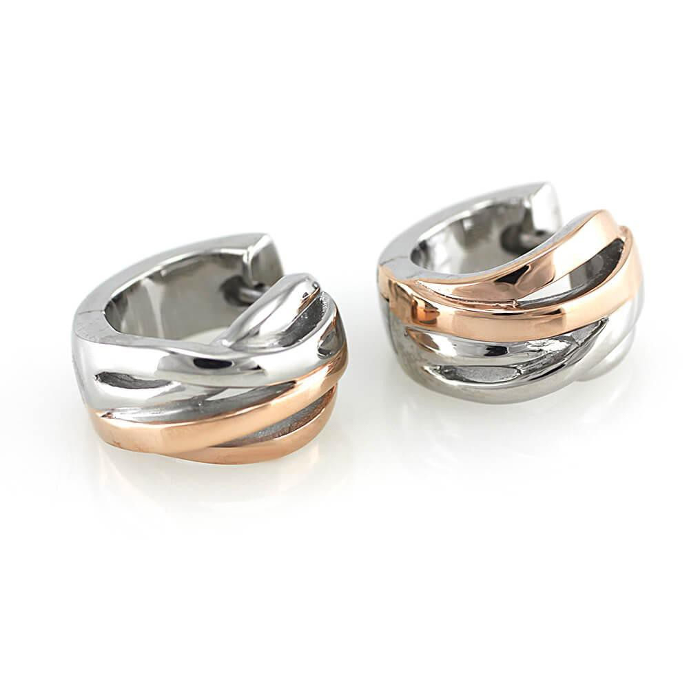 Earrings 7512 - Bicolor (Rose Gold)