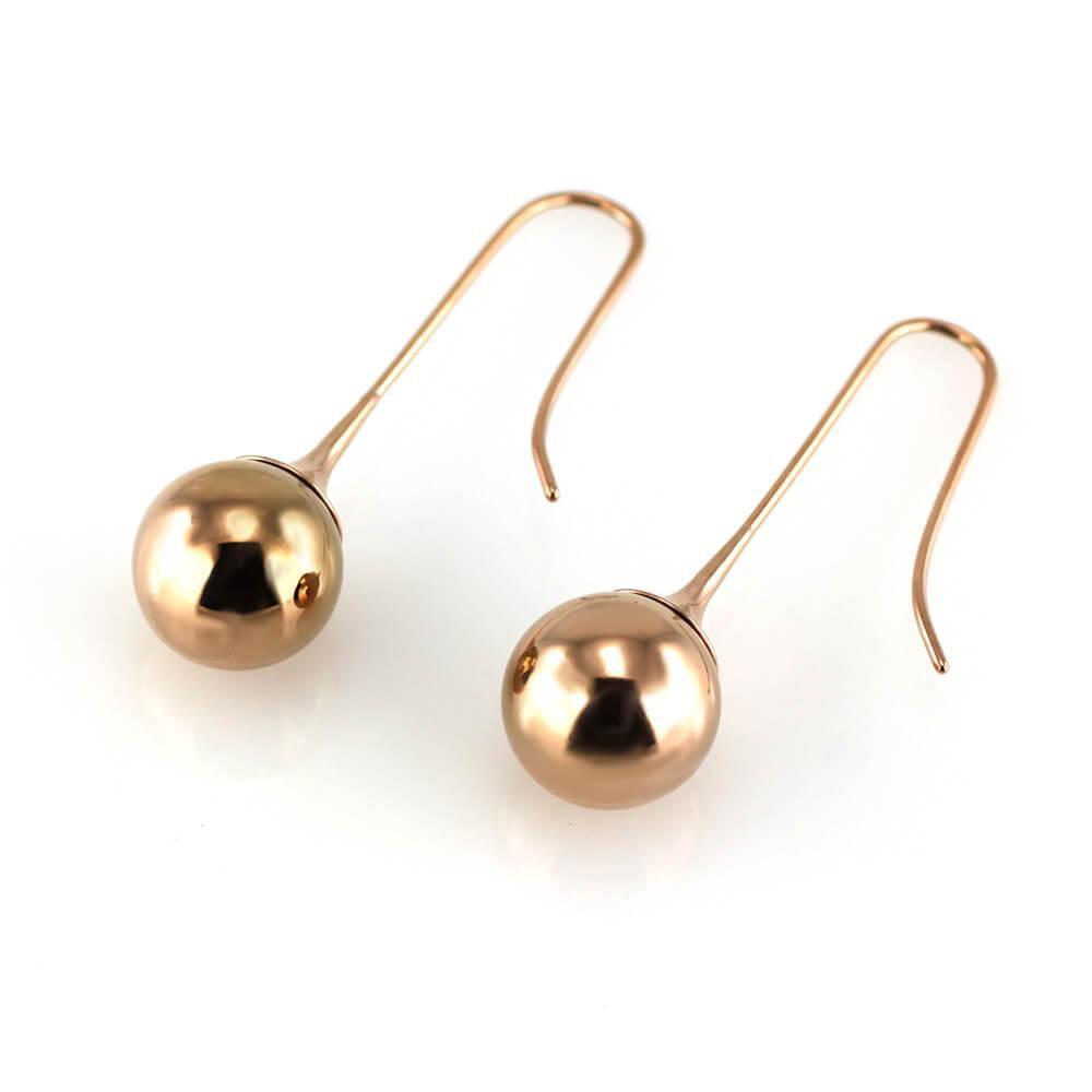 MPM Ocelové náušnice z chirurgické oceli Earrings 7545 - Rose