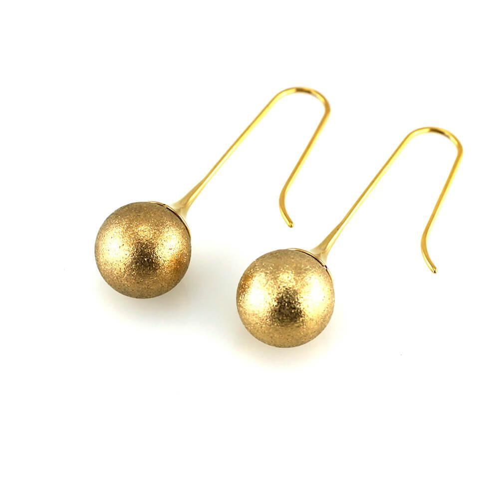 MPM Ocelové náušnice z chirurgické oceli Earrings 7545 - Gold