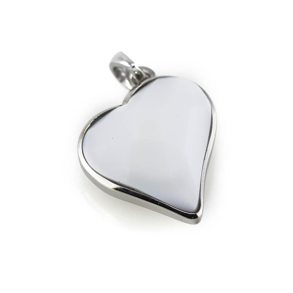 MPM Přívěsek z chirurgické oceli Pendant 7498 - Heart - White