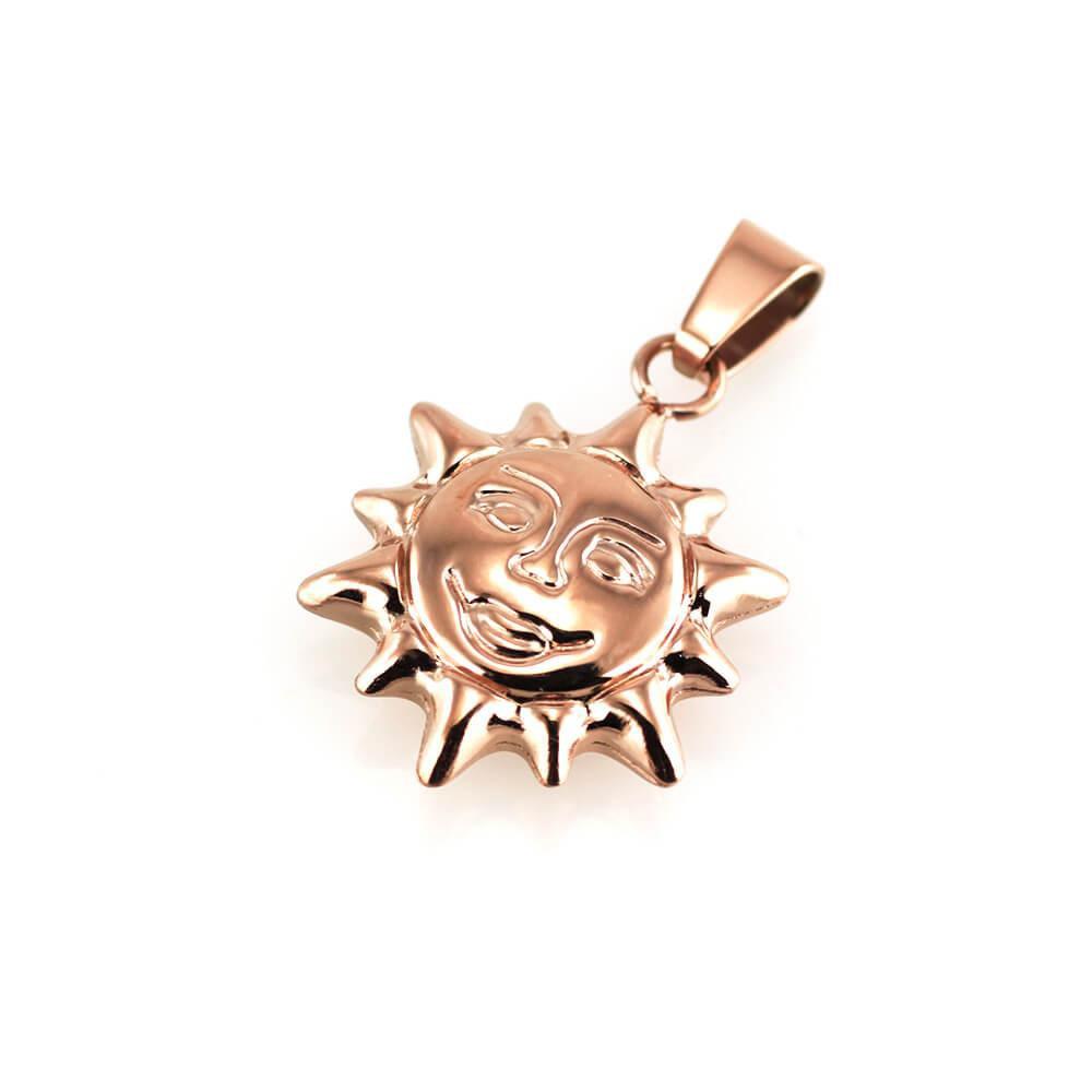 MPM Přívěsek z chirurgické oceli Pendant 7537 - Rose Gold - SUN