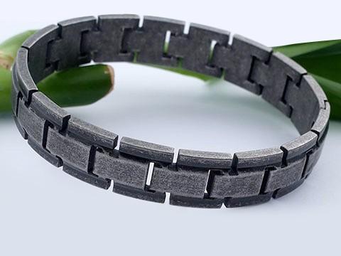 MPM Ocelový náramek z chirurgické oceli Bracelet 8122 - Black