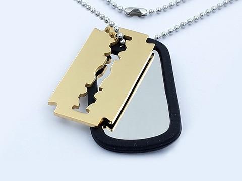 MPM Ocelový řetízek z chirurgické oceli Soldier chain - 8152 (psí známka)