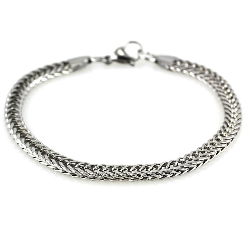 MPM Ocelový náramek z chirurgické oceli Bracelet 7542 - Silver (22,5cm)