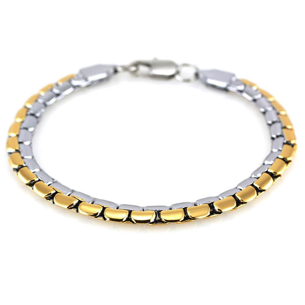 MPM Ocelový náramek z chirurgické oceli Bracelet 7583 - Gold