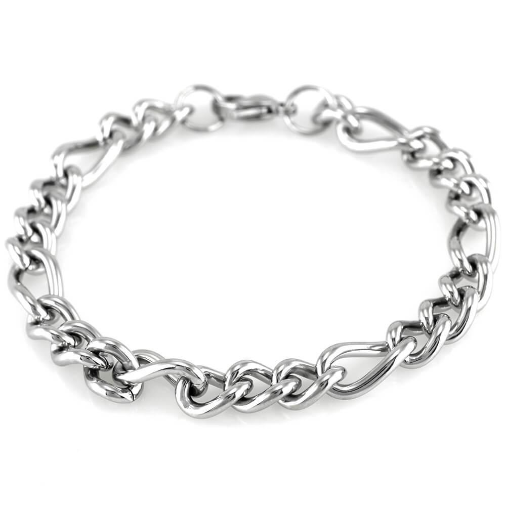 MPM Ocelový náramek z chirurgické oceli Bracelet 7610 - Silver