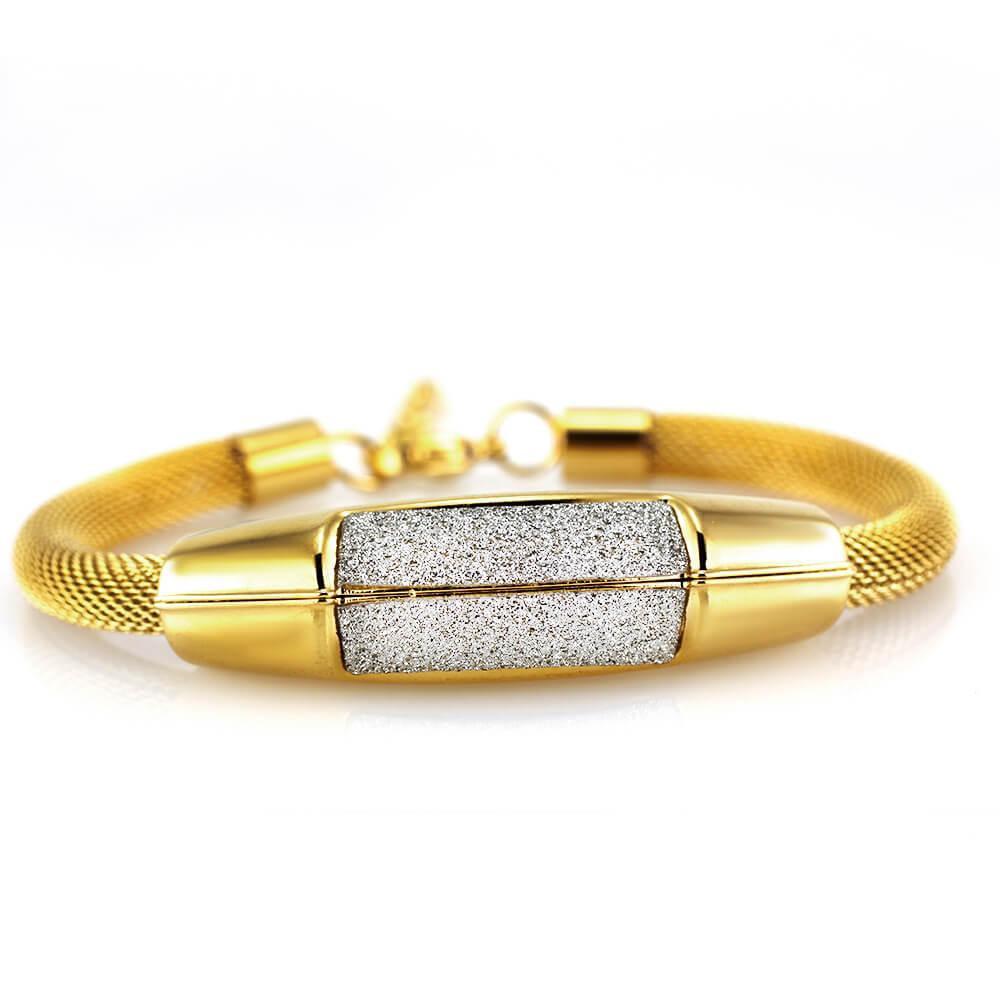 MPM Ocelový náramek z chirurgické oceli Bracelet 7613 - Gold