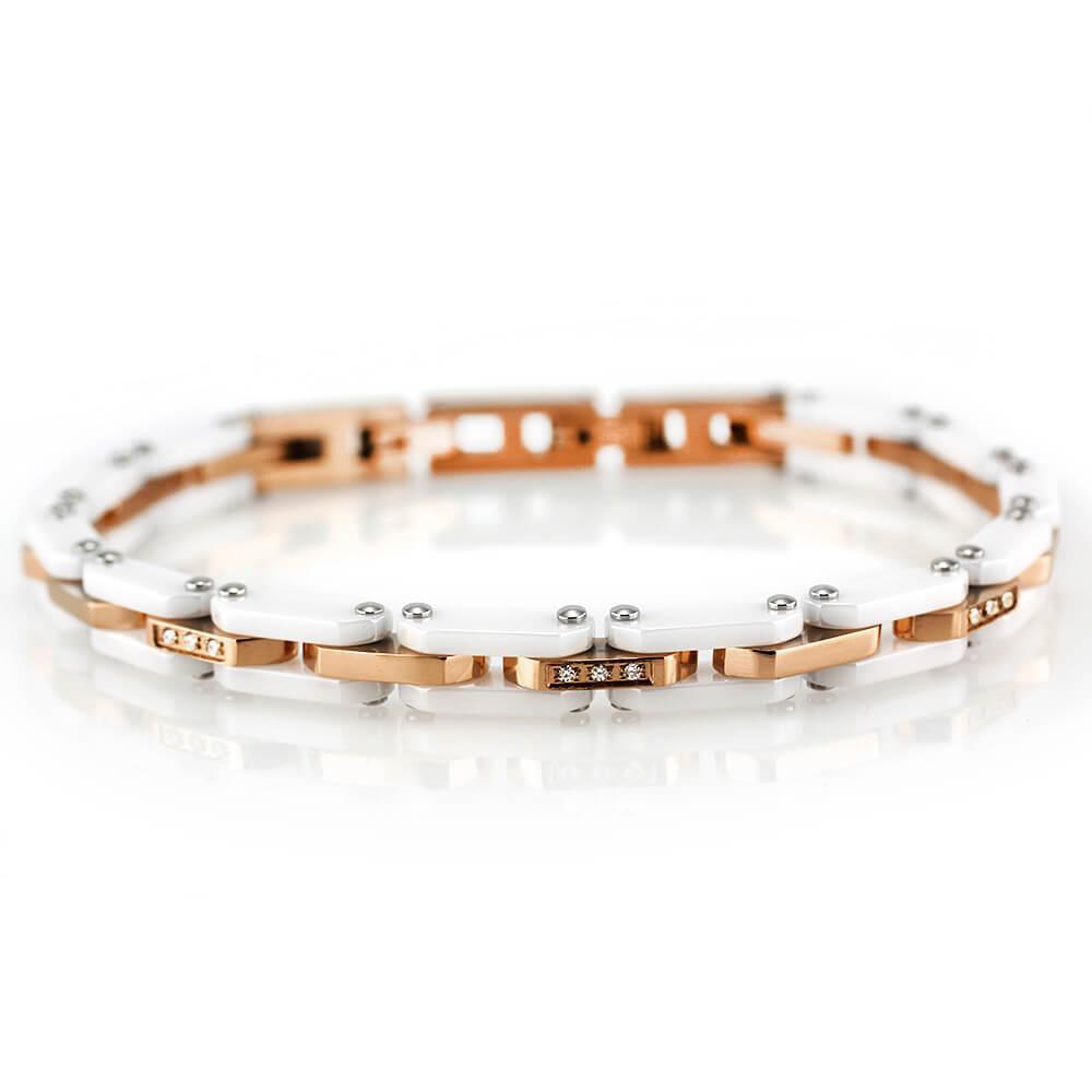 MPM Ocelový náramek z chirurgické oceli Bracelet 7628 - Rose Gold