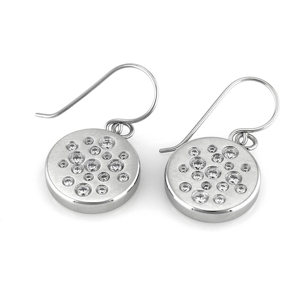 MPM Ocelové náušnice z chirurgické oceli Earrings 7656 - Silver