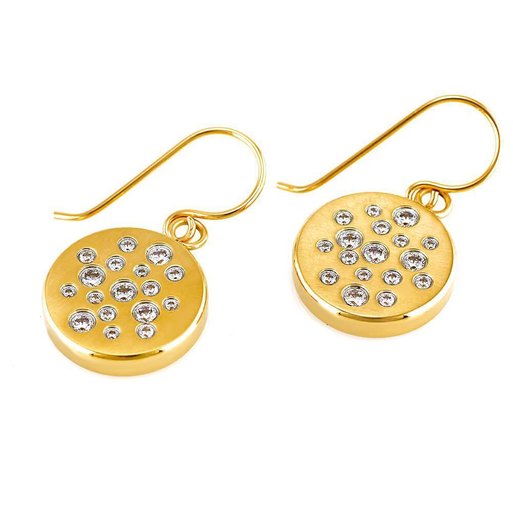 MPM Ocelové náušnice z chirurgické oceli Earrings 7659 - Gold