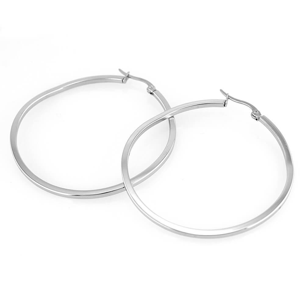 Earrings 7594 - Silver (45mm)