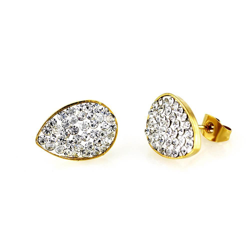MPM Ocelové náušnice z chirurgické oceli Earrings 7620 - Gold