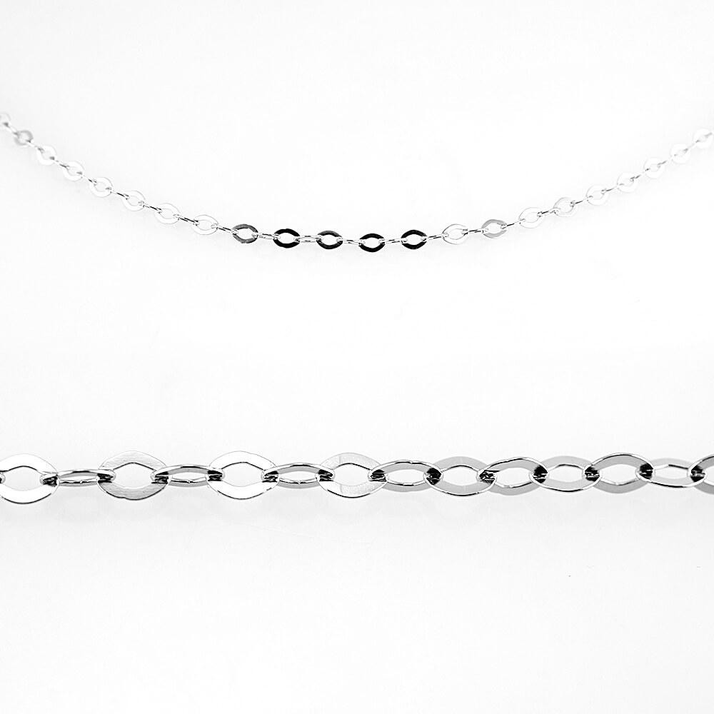 MPM Ocelový řetízek z chirurgické oceli Chain 7315 - SS Silver (50cm)
