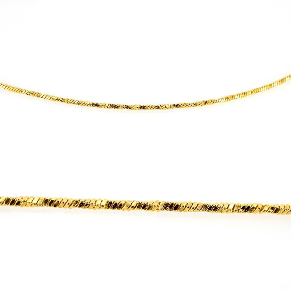 MPM Ocelový řetízek z chirurgické oceli Chain 7330 - Gold (50cm)