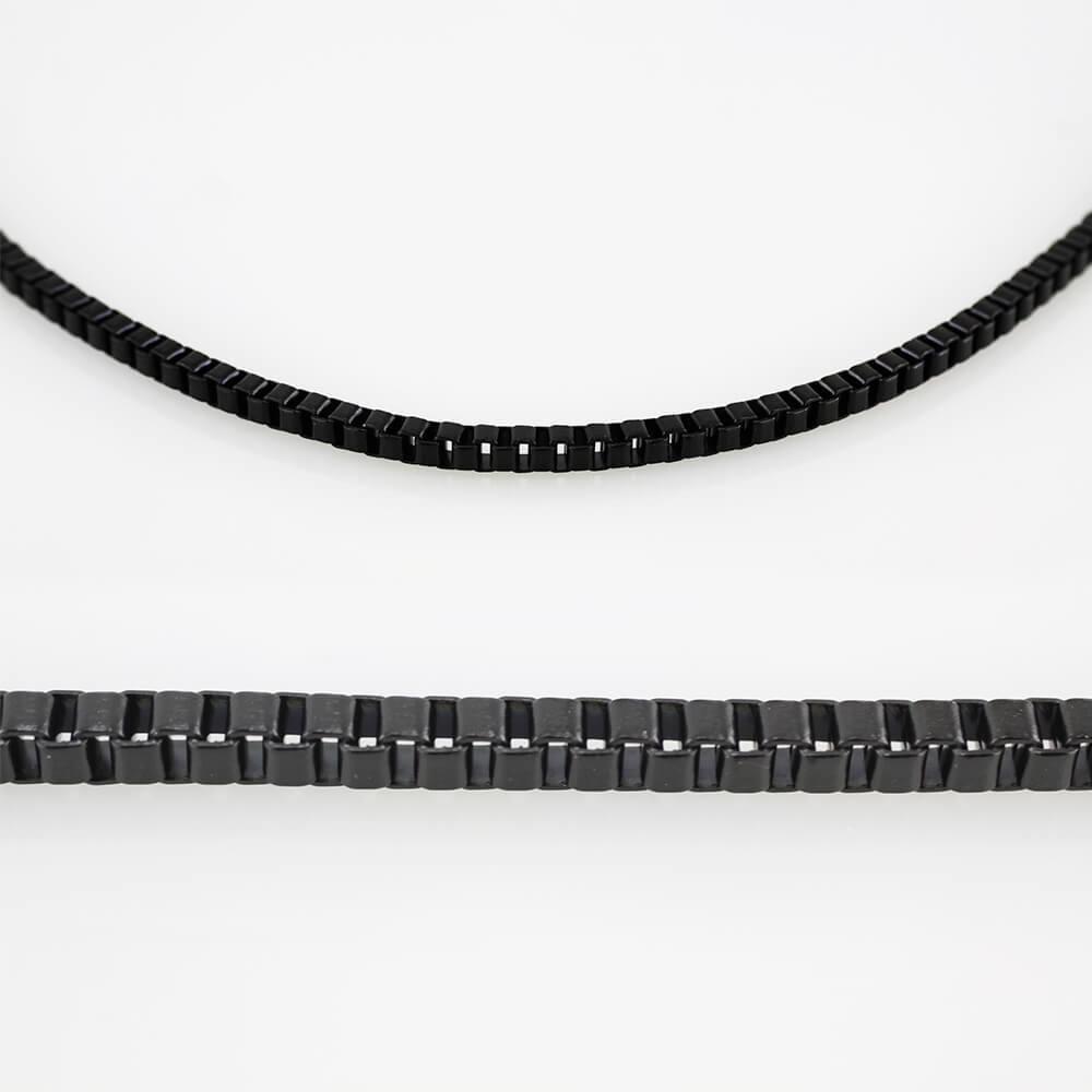 MPM Ocelový řetízek z chirurgické oceli Chain 7575 - Black (60cm)