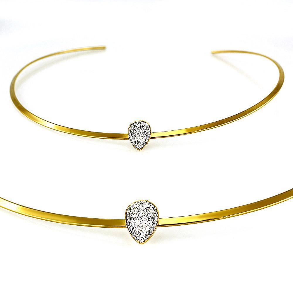 MPM Ocelový náhrdelník z chirurgické oceli Necklace 7620 - Gold