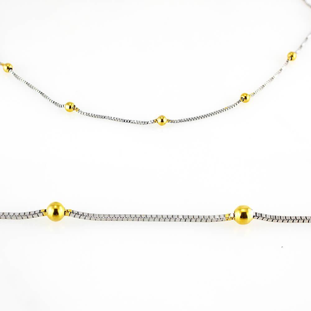 MPM Ocelový řetízek z chirurgické oceli Chain 7655 - Bicolor (60cm)