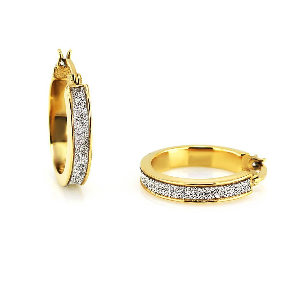 MPM Ocelové náušnice z chirurgické oceli Earrings 7730 - Gold