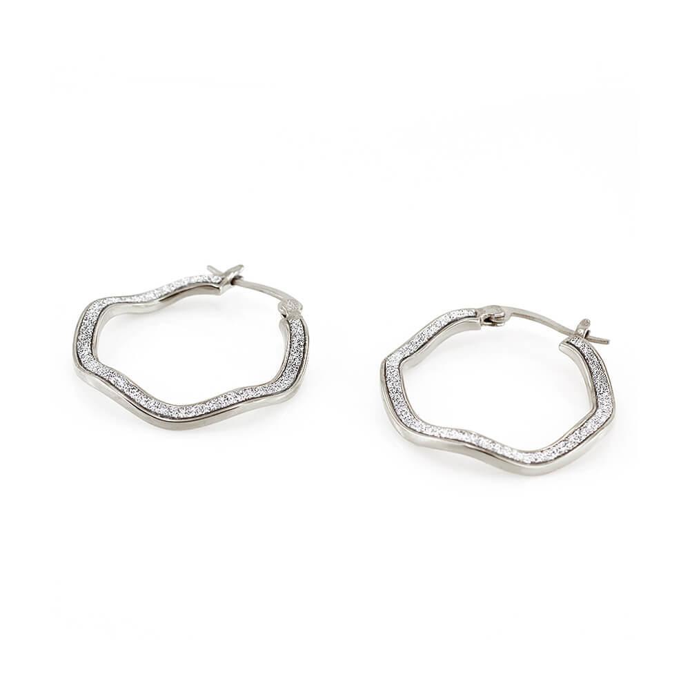 MPM Ocelové náušnice z chirurgické oceli Earrings 7731 - Silver