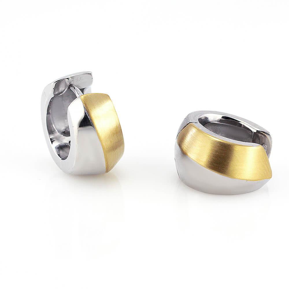 MPM Ocelové náušnice z chirurgické oceli Earrings 7737 - Silver/Gold