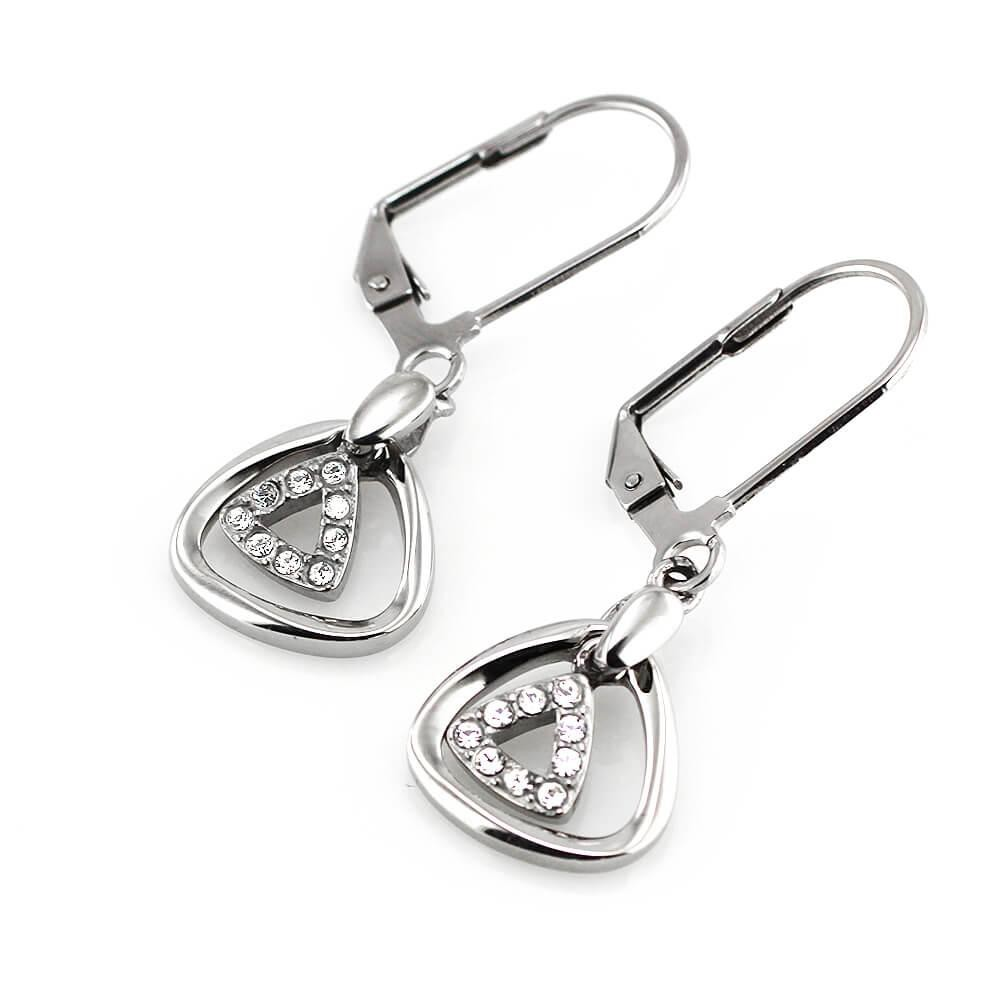 MPM Ocelové náušnice z chirurgické oceli Earrings 7746 - Silver