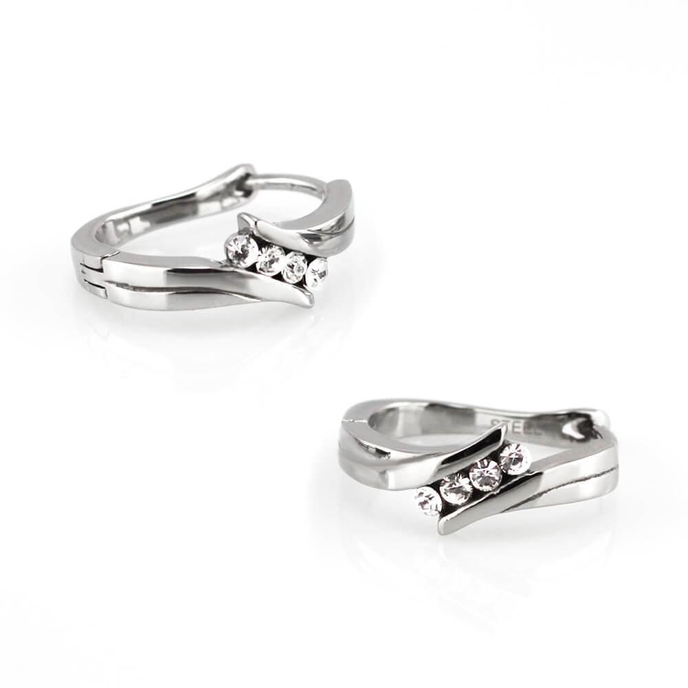 MPM Ocelové náušnice z chirurgické oceli Earrings 7754 - Silver