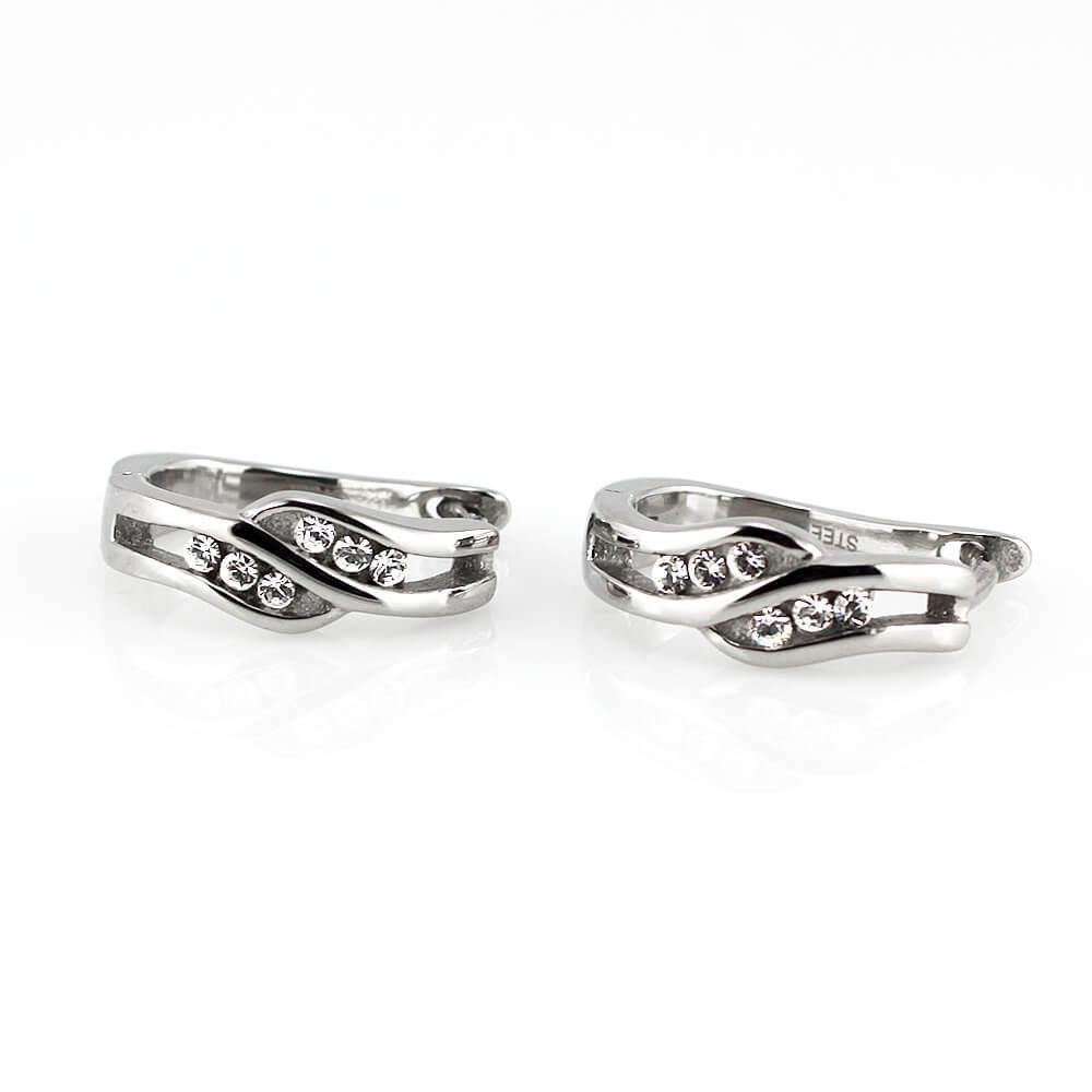 MPM Ocelové náušnice z chirurgické oceli Earrings 7755 - Silver