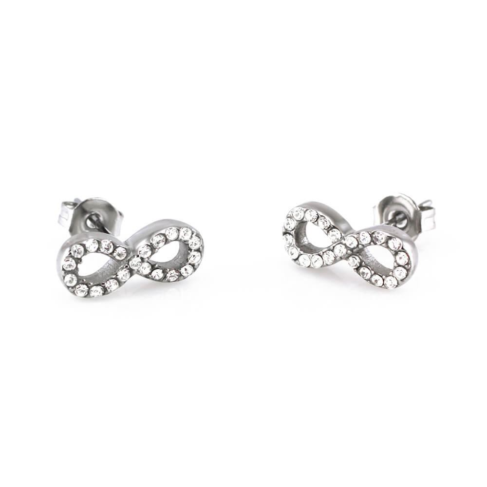 MPM Ocelové náušnice z chirurgické oceli Earrings 7758 - Silver