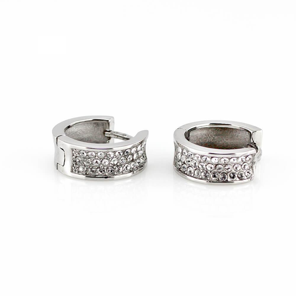 MPM Ocelové náušnice z chirurgické oceli Earrings 7760 - Silver